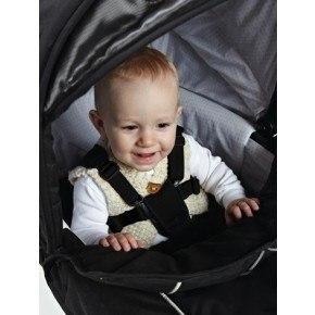 Baby Dan Lux-sele til barnevogn - sort