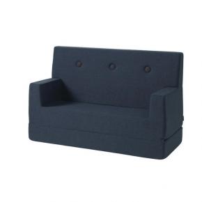 By KlipKlap Sofa - Mørkeblå m. sorte knapper