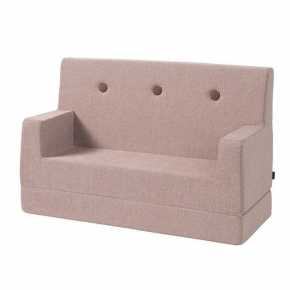 By KlipKlap sofa - soft rose m. rosa knap