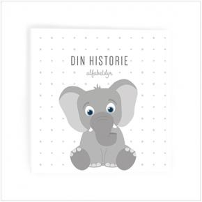 Alfabetdyr Din historie - Hvid Elefant Bog - Udgået model