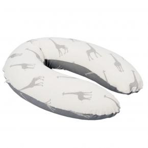 Doomoo amme- og graviditetspude m. giraffer - hvid/grå