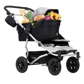Mountain Buggy Klapvogn - Duet as a single, Silver