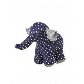 Smallstuff lille stof elefant bamse - Blå