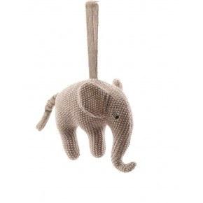 Smallstuff musikuro, elefant - Cold rose/sølv Uro