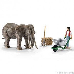 SCHLEICH Elephant care set Plastfigur