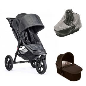 Baby Jogger City Elite Charcoal Denim + Charcoal Denim Deluxe Pram og Regnslag til Pram