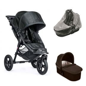 Baby Jogger City Elite - Titanium + Charcoal Denim Deluxe Pram og Regnslag til Pram
