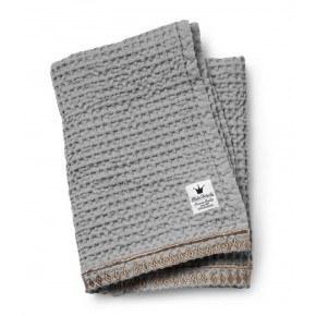 Elodie Details - Vaffelvævet tæppe, Gilded Grey