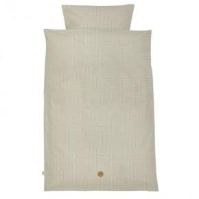 Ferm Living Grey Cross Bedding - Baby Sengetøj Sengetøj
