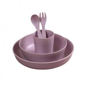 Filibabba bambus servicesæt - light lavender