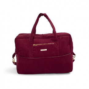 Filibabba Fløjls Mommy Bag - deeply red