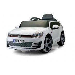 Ride ons Licensed VW GOLF GTI, hvid - Med fjernbetjening.