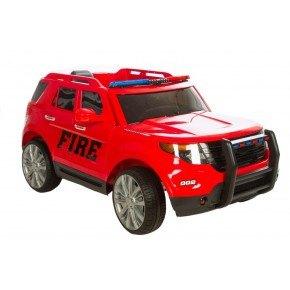 Ride ons Azeno SUV Brandbil - Rød - Med fjernbetjening