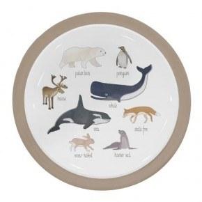 Sebra Melamin tallerken - Arktiske dyr