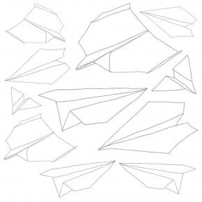 SEBRA Wallsticker - papirsflyvere