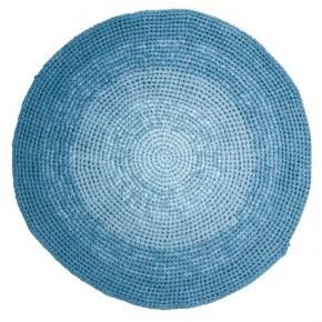 Sebra Hæklet gulvtæppe - Gradient blue