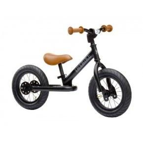 TRYBIKE Balancecykel 2 hjul - Sort