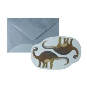 Sebra Kort med kuvert - Dino