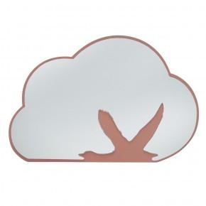 Sebra Spejl med baggrund af træ - Sky med svane