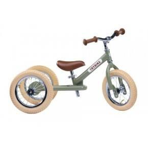 TRYBIKE Balancecykel 3 hjul - Grøn