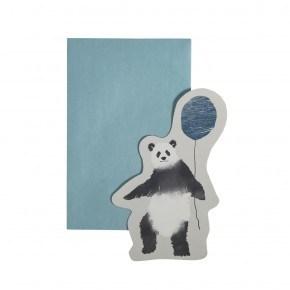 Sebra Kort med kuvert, In the Sky, Panda - Blue