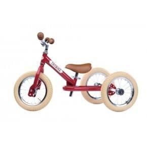 TRYBIKE Balancecykel 3 hjul - Rød