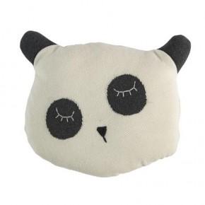 Strikket Panda Pude - Sebra