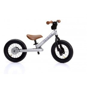 TRYBIKE Balancecykel 2 hjul - Sølv