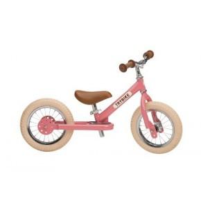 Trybike, balancecykel, 2 hjul - lyserød