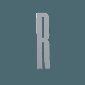 Design Letters Grå wooden letters - R