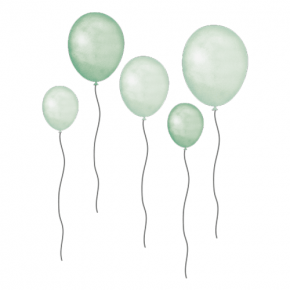 That's Mine Wall Stories - Grønne balloner (5 stk)
