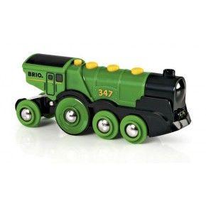 BRIO Grønt lokomotiv, batteridrevet Legetøj