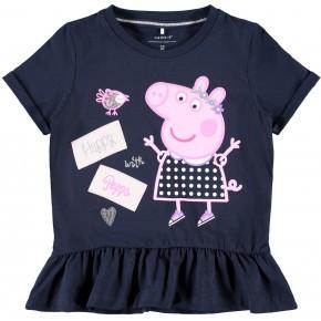 Name it t-shirt med Gurli Gris - mørkeblå