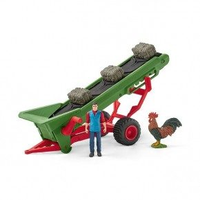 Schleich Hø-transportbånd med bondefigur