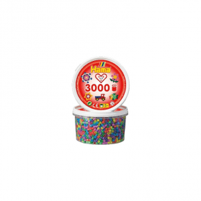 Hama midi perler bæger 3000stk pastel mix