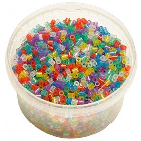 Hama midi perler bæger 3000stk glitter mix