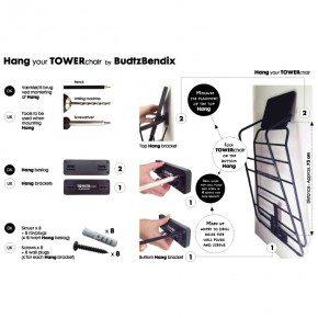 BUDTZBENDIX HANG Black - beslag til TOWERchair