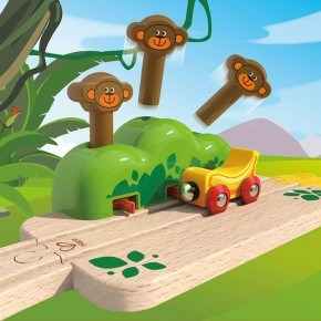 HAPE Hape Monkey Pop-Up Track Legetøj