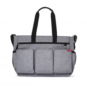Skip Hop Pusletaske Duo Double Signature - Heather Grey