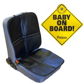 Heybasic sædebeskytter inkl. Pixizoo Baby on Board - Tilbehør til autostol