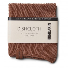 HUMDAKIN Knitted dishcloth - Dark Brown