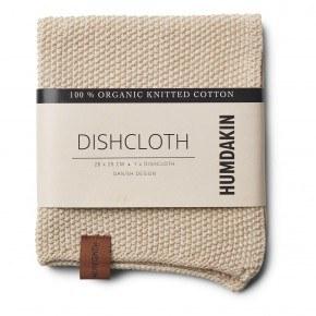 HUMDAKIN Knitted dishcloth - Light Stone