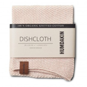 HUMDAKIN Knitted dishcloth - Rose Nature