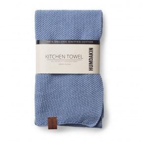 HUMDAKIN Knitted Tea Towel - Light Blue