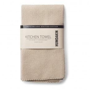 HUMDAKIN Knitted Tea Towel - Light Stone
