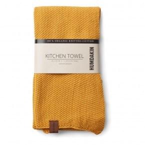 HUMDAKIN Knitted Tea Towel - Yellow Fall