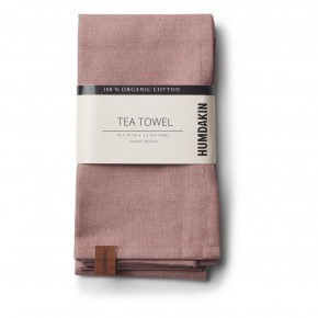 HUMDAKIN Organic Tea Towels, 2-pack - Dark Brown