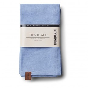 HUMDAKIN Organic Tea Towels, 2-pack - Light Blue