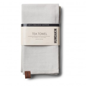 HUMDAKIN Organic Tea Towels, 2-pack - Light Stone