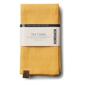 HUMDAKIN Organic Tea Towels, 2-pack - Yellow Fall